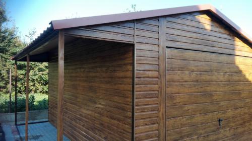 Garaże jednostanowiskowe oraz domki ogrodowe